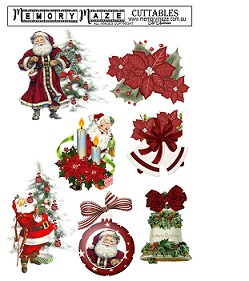 Christmas & vintage ephemera  cuttable, min buy 5